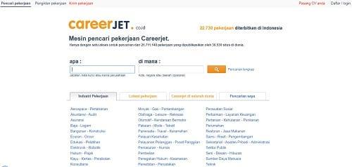 Situs lowongan kerja CareerJet.co.id