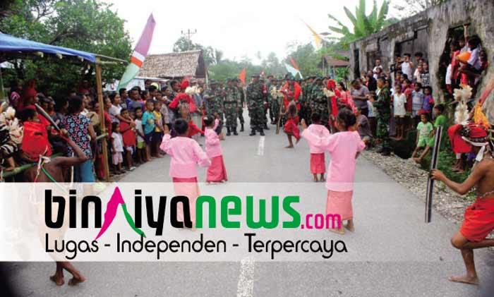 Di Hatumete, Prajurit TNI Bangun Dua Rumah Ibadah dan Rumah Warga