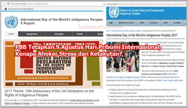 PBB Tetapkan 9 Agustus Hari Pribumi Internasional, Kenapa Ahoker Stress dan Ketakutan?