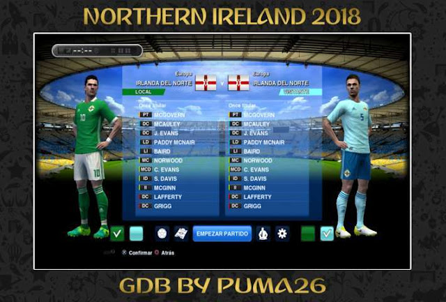 Northern Ireland 2018 Kit PES 2013