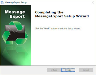 Installation of MessageExport is completed