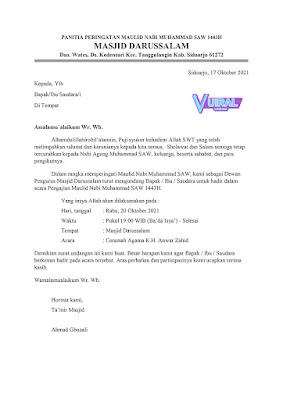 Download Contoh Undangan Maulid Nabi Word (Docx) Siap Edit