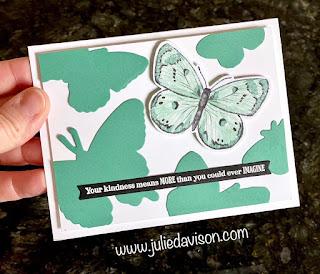 Stampin' Up! Tiled In Color Butterfly Bijou Cards + VIDEO ~ www.juliedavison.com #stampinup