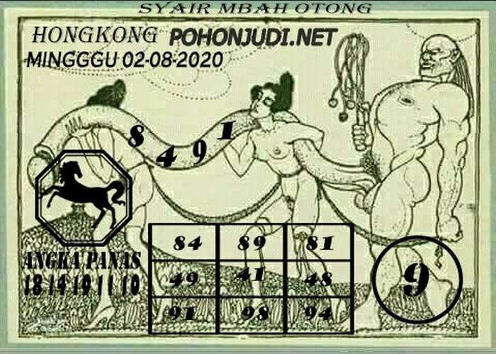 Kode syair Hongkong Minggu 2 Agustus 2020 272