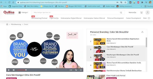 Belajar Gratis Persona Branding di Qubisa.com, Seru!