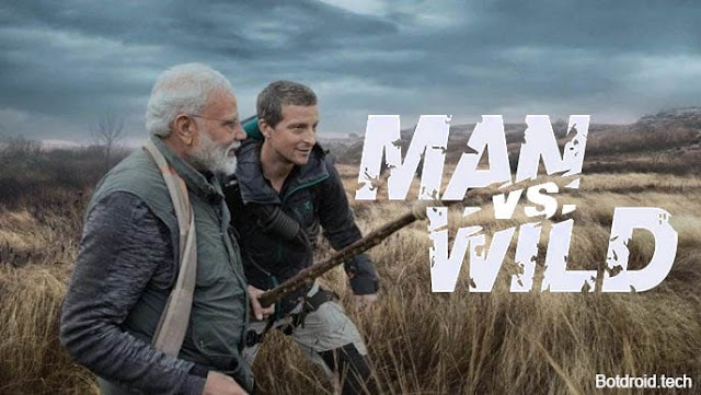 pm modi on man vs wild show