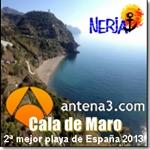 Cala de Maro en Nerja, 2ª mejor playa de España 2013
