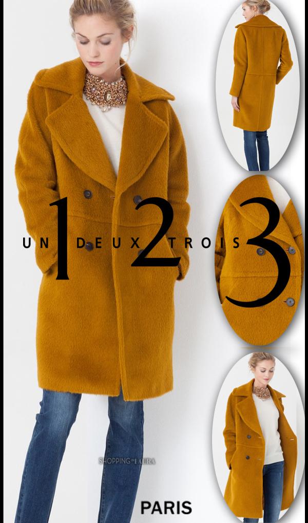 Manteau 1.2.3 en laine ocre