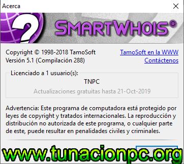 Descargar SmartWhois Gratis con Licencia