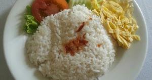 Nasi uduk sederhana