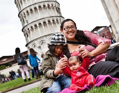 The Frakarsas at the Leaning Tower, Pisa, Italy