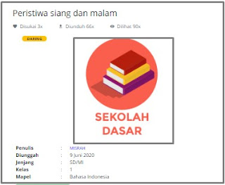 Download RPP Daring Bahasa Indonesia Kelas 1 SD