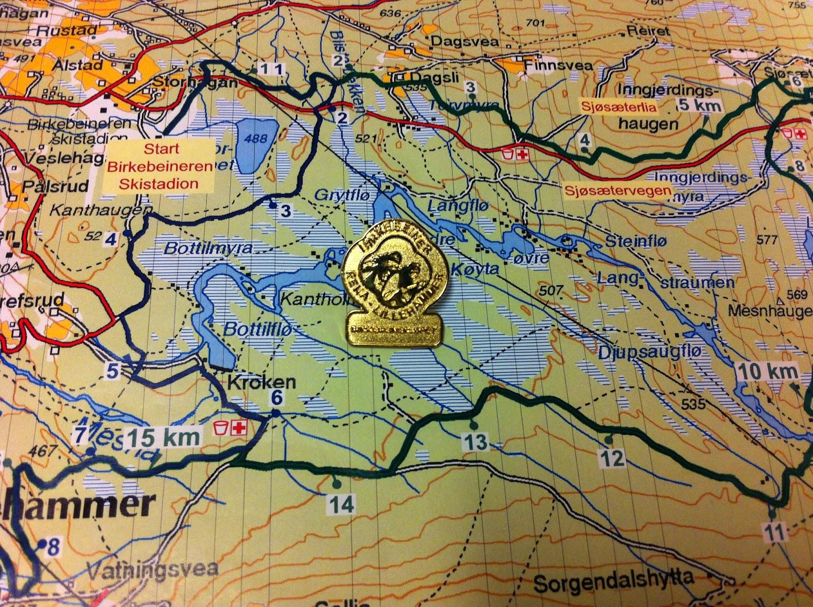 birkebeinerløypa kart Gulljakt i Birkebeinerløypa | moromedkondis : )