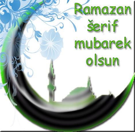 Ramazan šerif mubarek olsun čestitka za Ramazan