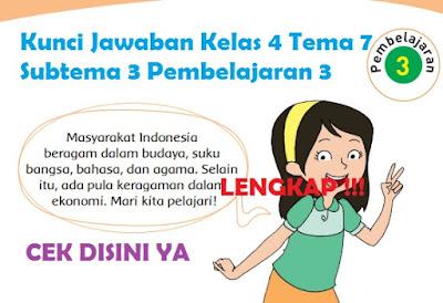 Kunci Jawaban Kelas 4 Tema 7 Subtema 3 Pembelajaran 3 www.simplenews.me