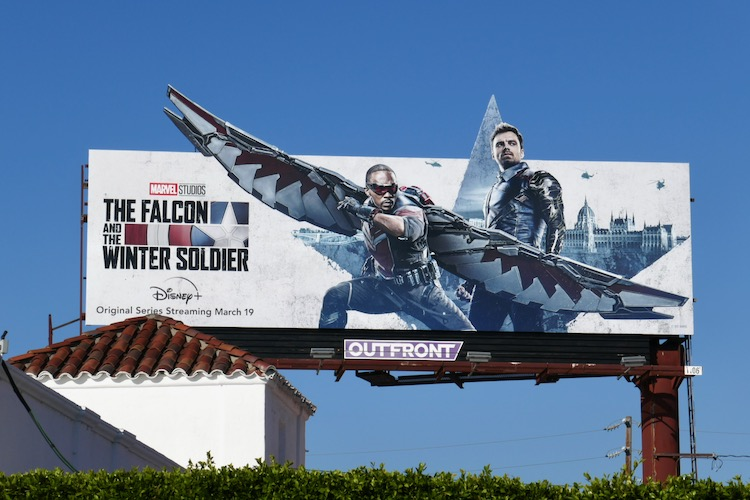 Falcon and Winter Soldier extension billboard