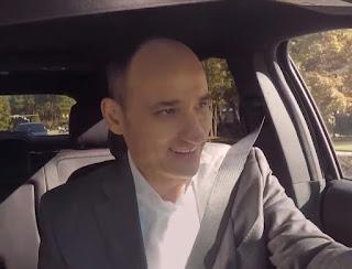 Logan's David Visentin father driving the car