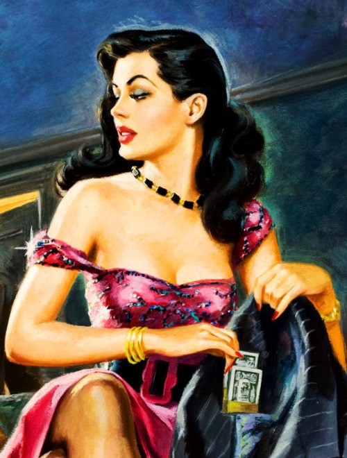 Vintage Paintings of Beautiful Woman's 8