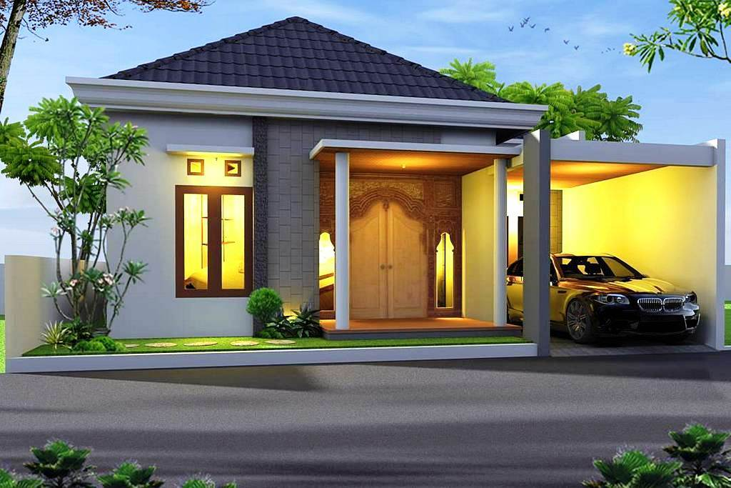 Desain Rumah Minimalis Modern Tampak Depan 1 Lantai