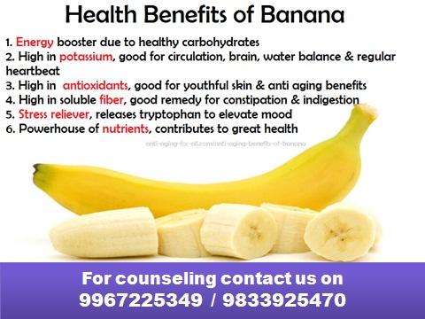 रोज एक केळं खाण्याचे फायदे...