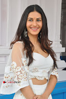Telugu Actress Amyra Dastur Stills in White Skirt and Blouse at Anandi Indira Production LLP Production no 1 Opening  0051.JPG