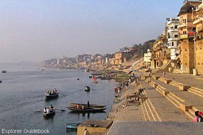 Kota suci varanasi india ghat terkenal di varanasi