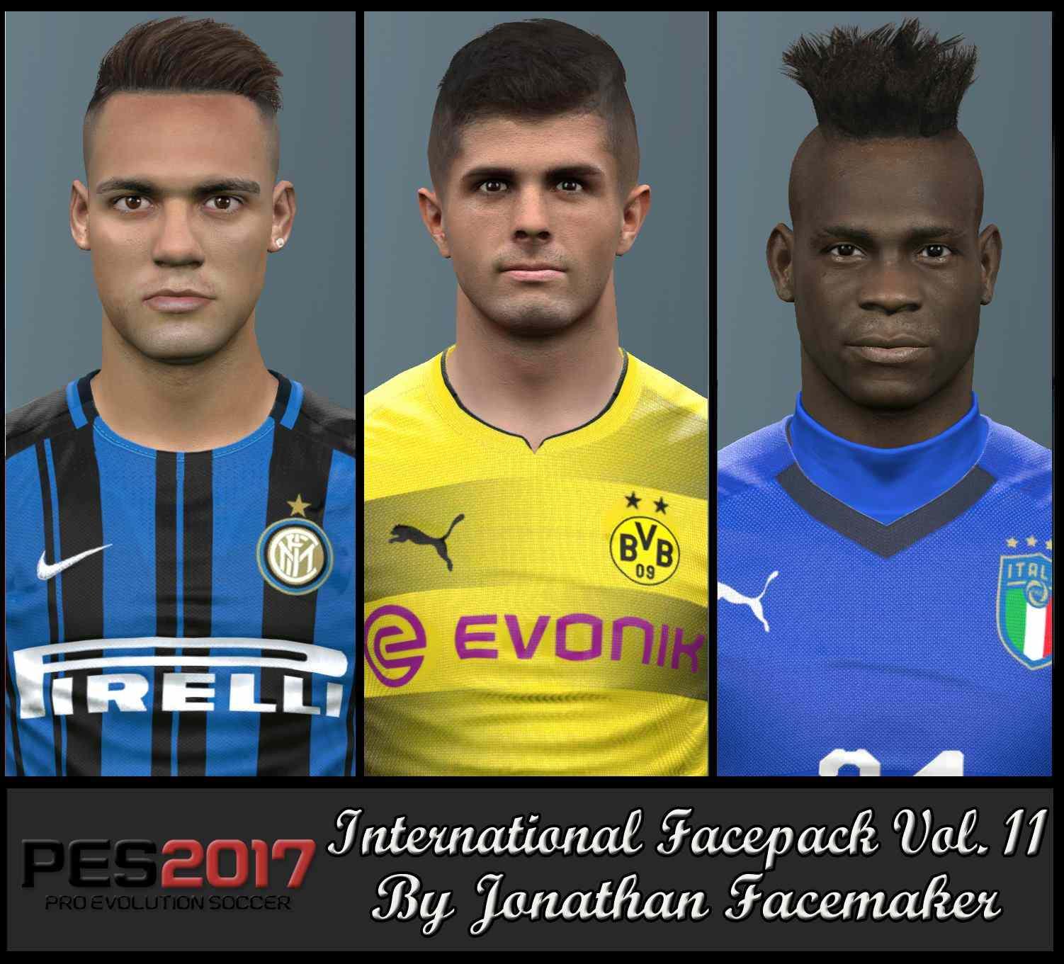 Ultigamerz: PES 2017 Balotelli, Pulisic & Lautaro Faces