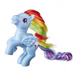 My Little Pony Rainbow Dash Retro Rainbow Pony Brushable