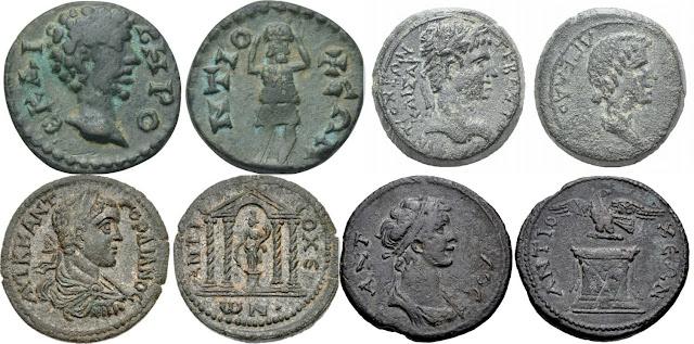 Monedas de bronce acuñadas en Antioquía del Meandro