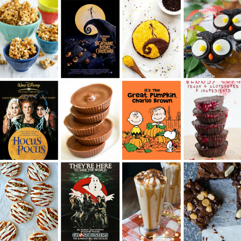 Virtual Halloween Movie Party: Bloggers Share Recipe + Flick Faves!