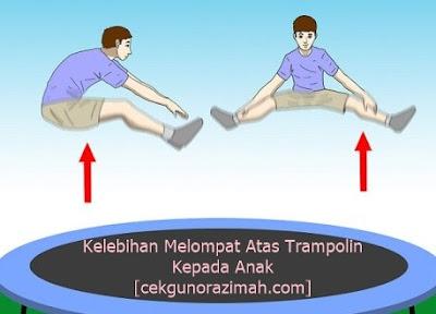 kelebihan trampolin untuk anak, bagus melompat di trampolin, melompat di trampolin, manfaat melompat, trampolin murah, beli trampolin di shopee