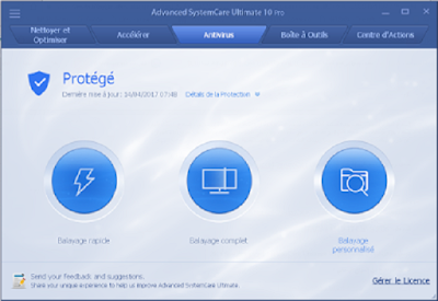 تحمبل وتفعيل برنامج الحماية  الكبيرAdvanced SystemCare Ultimate 10 pro  لسنة 2018