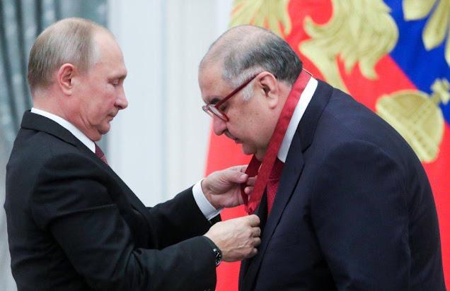 Алишер Усманов получил из рук президента РФ Владимира Путина очередную награду — орден «За заслуги перед Отечеством» III степени