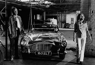 Margaret Blye with her co-star with classic car in the side