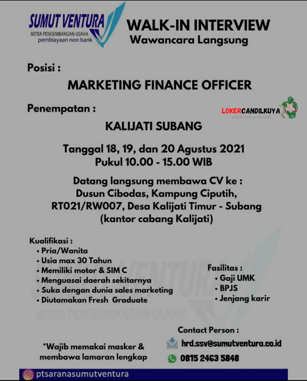 Lowongan Kerja Marketing Sumut Ventura Subang