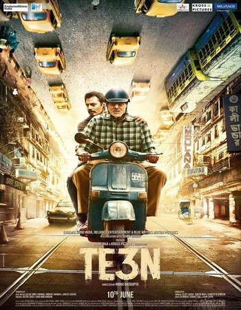 Poster Of Te3n 2016 Hindi 450MB BRRip 720p ESubs HEVC Watch Online Free Download Worldfree4u