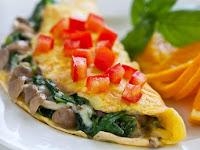 Resep Masakan Sehat Omelet Jamur Bayam