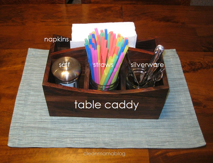 kitchen table caddy somewhat simple
