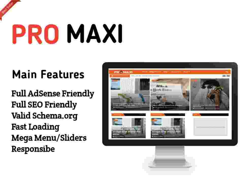 Pro Maxi  Blogger Template