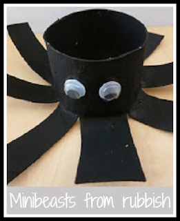 Making bugs and mini beasts from rubbish