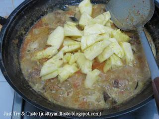 Resep Kari Ayam dan Nanas JTT