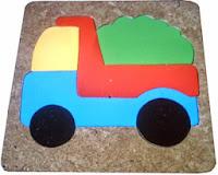 Mainan Puzzle Untuk Anak Truk