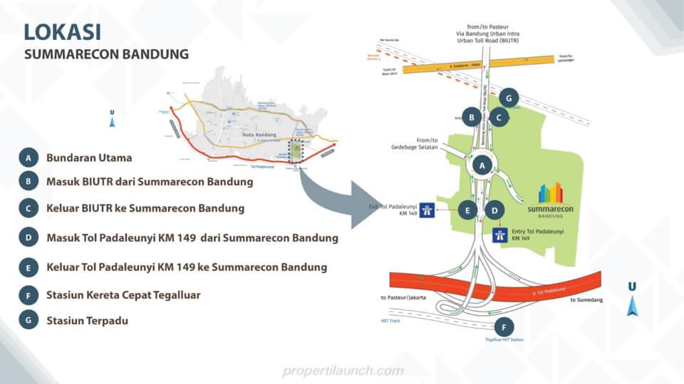 Lokasi Summarecon Bandung