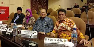 Nofi Candra Selesaikan Pengabdian Sebagai Senator Sumbar 2014-2019
