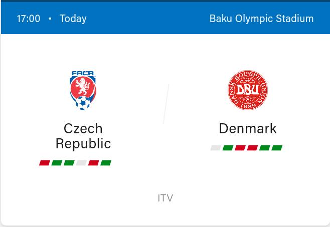 Czech Republic vs Denmark Football Preview and Predictions 2021