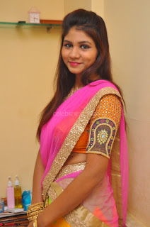 Lucky Sree in dasling Pink Saree and Orange Choli DSC 0338 1600x1063.JPG