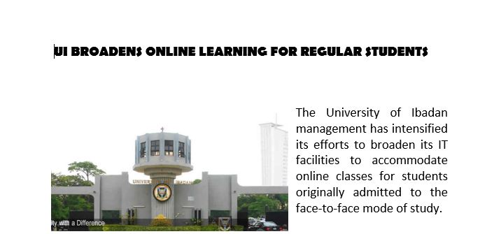 UI BROADENS ONLINE LEARNING FOR REGULAR STUDENTS