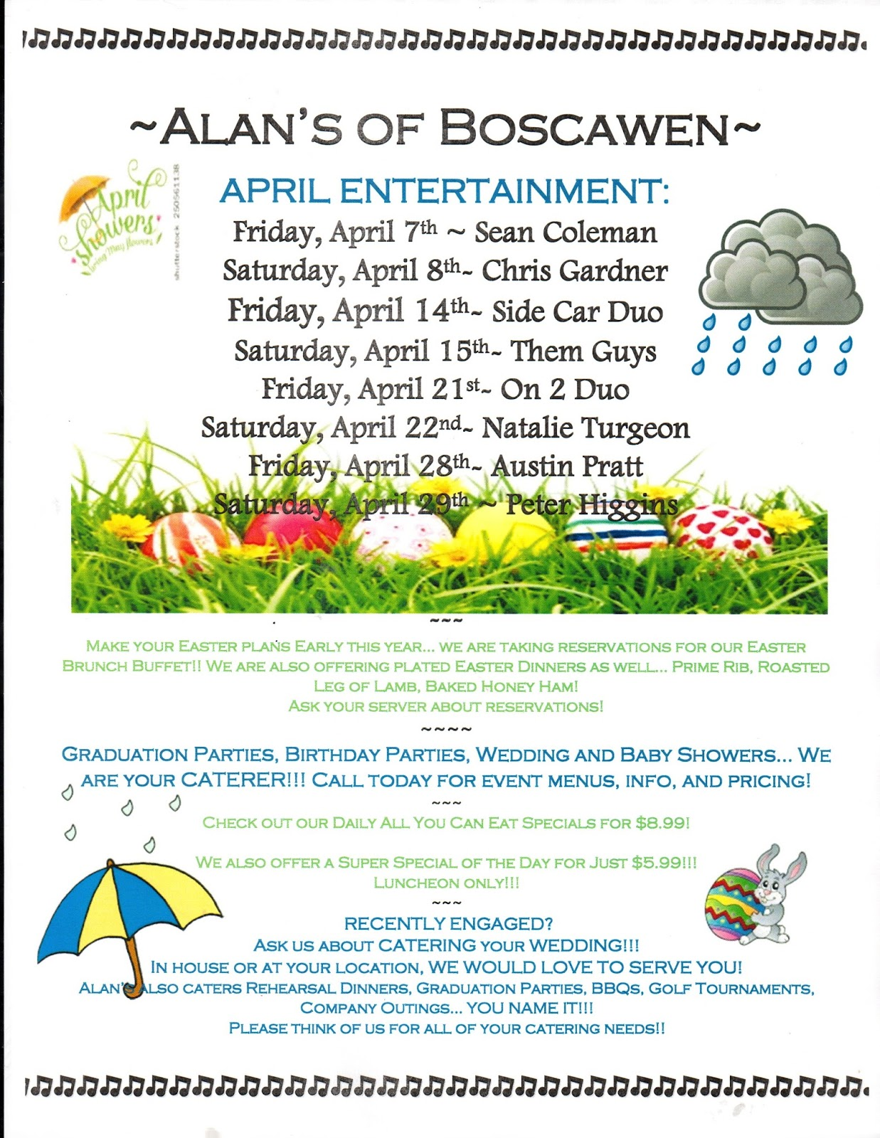 Alan's of Boscawen, NH - News, Events & Live Entertainment schedule