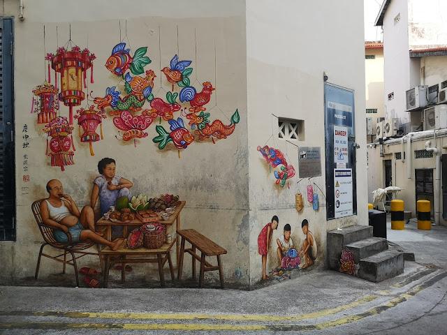 Chinatown mural - 庆中秋