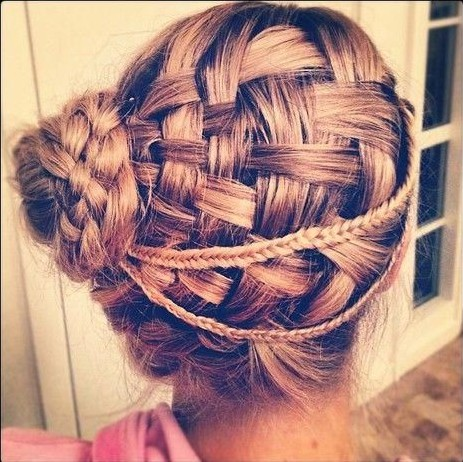 88 must see beautiful updo hairstyles variations hairstylo braided updo hairstyles for prom basket weave updos pmusecretfo Images